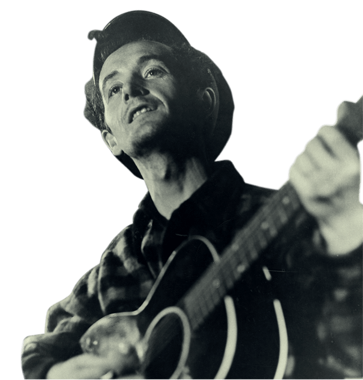 Woody Guthrie Historical Photo