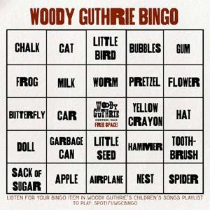 Woody Guthrie Bingo