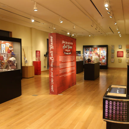 Take Me Out to the Ball Game: Popular Music and the National Pastime exhibit at the Woody Guthrie Center
