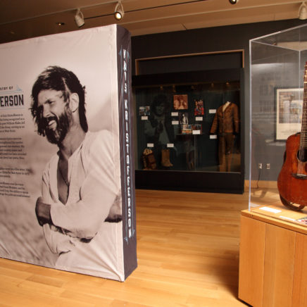 For the Good Times: The Artistry of Kris Kristofferson exhibit at the Woody Guthrie Center